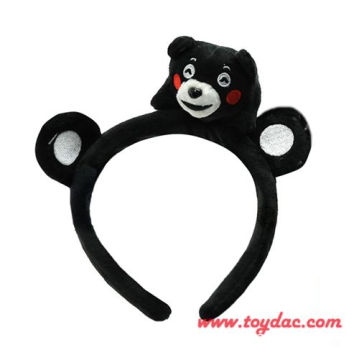 plush Japan comic bear hairpin
